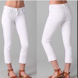 Citizens of Humanity Dani Cropped White Straight